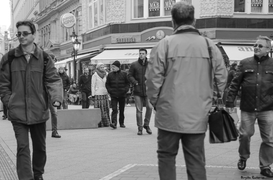 Street Photo - Seductive in Man's world.