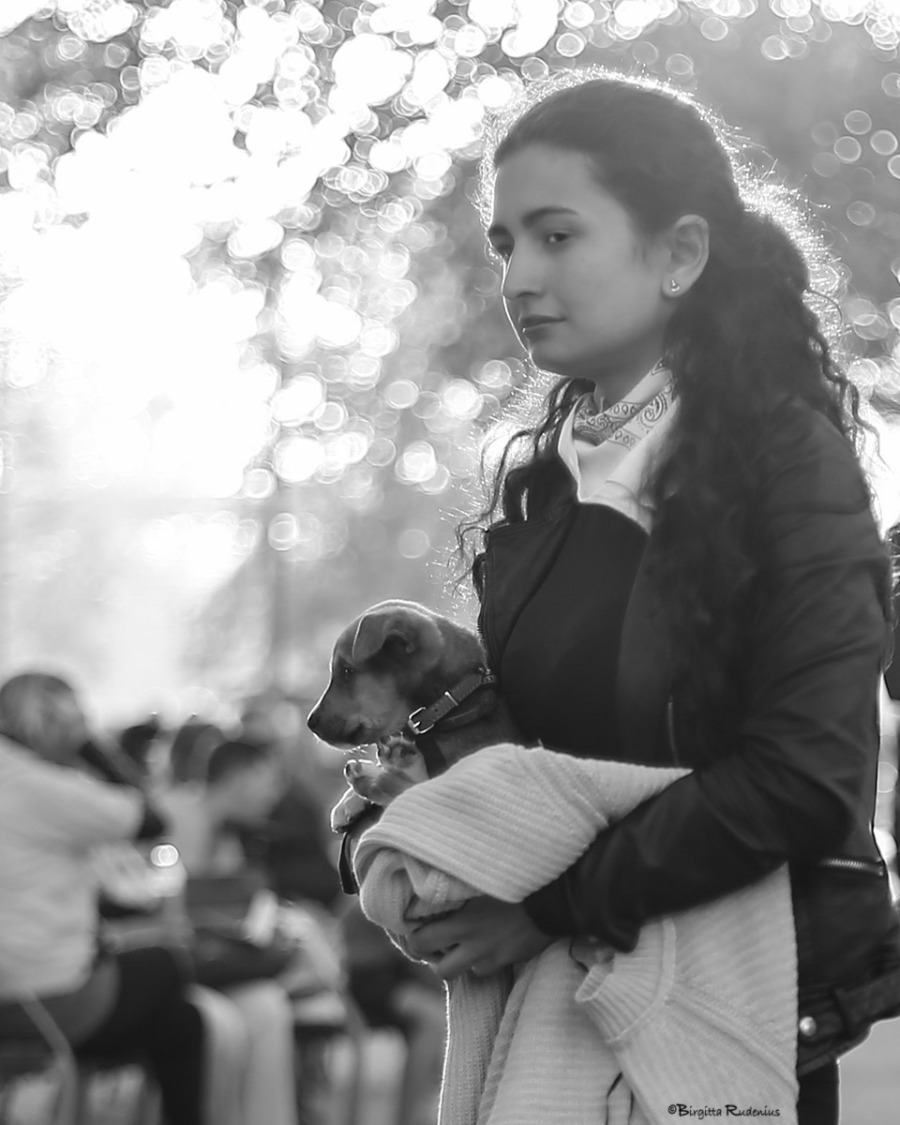 Street Photo - First Day with Puppy.