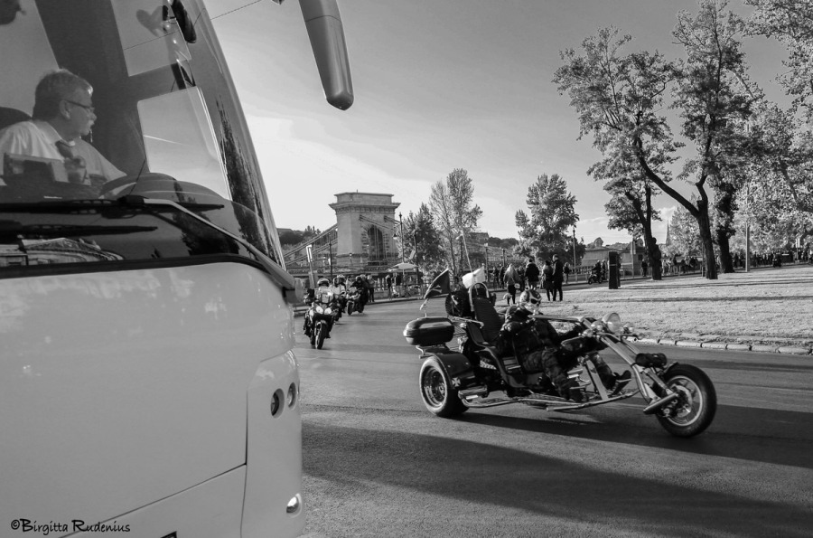 Bikers in Budapest.